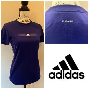 Adidas Climalite Workout Top Athletic T Shirt Tee